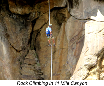 Rock Climbing in 11 Mile Canyon